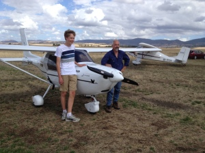 Student Conrad aged 16 yrs with Instructor Andrew